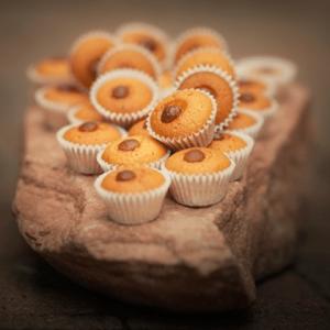 Kleine cupcake vormpjes met cupcake/muffinmix