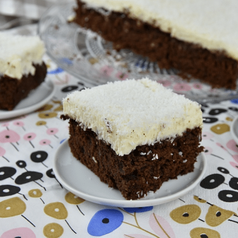 Brownie mix Brownie met Kokos