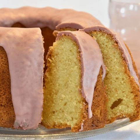 Chocoladedruppels Ruby op cake