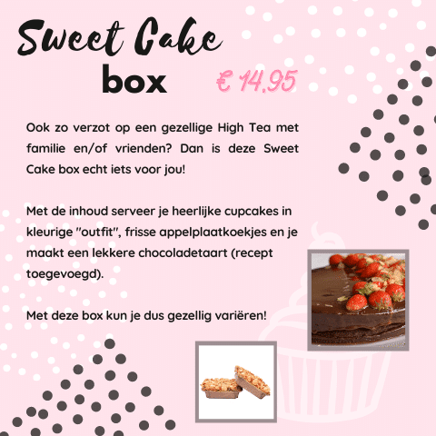 Sweet Cake Box High Tea