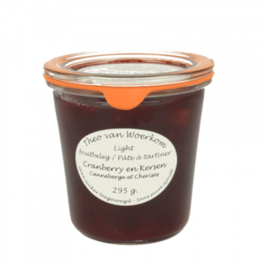 Cranberry en Kersenjam Light
