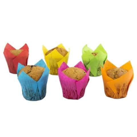 Papieren Muffinvorm Tulp Caisses Kleurenmix